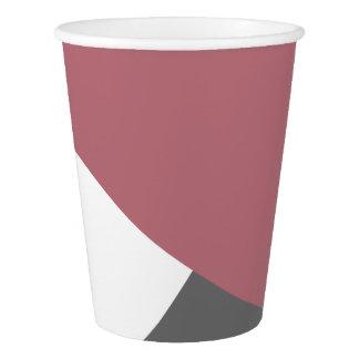 Copo De Papel geometrics cor-de-rosa, preto, cinzento empoeirado