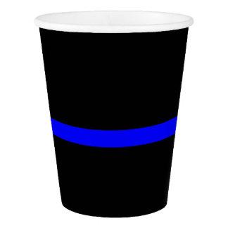 Copo De Papel Gráfico fino simbólico de Blue Line