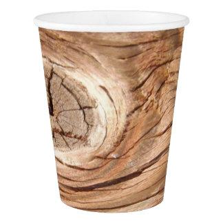 Copo De Papel Grão de madeira Knothole