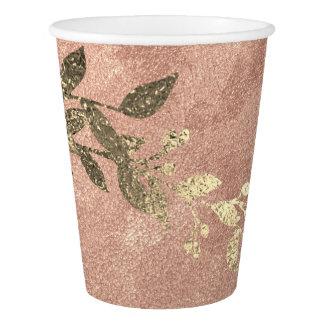 Copo De Papel Grinalda de cobre do louro do ouro do pó do rosa