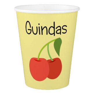 Copo De Papel Guindas (cerejas)