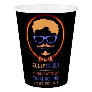 Copo De Papel Hipster engraçado eclipse solar do 21 de agosto de