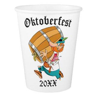 Copo De Papel Homem de Oktoberfest com barril