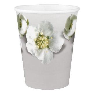 Copo De Papel Jasmim metálico do branco da flor de Ombre das