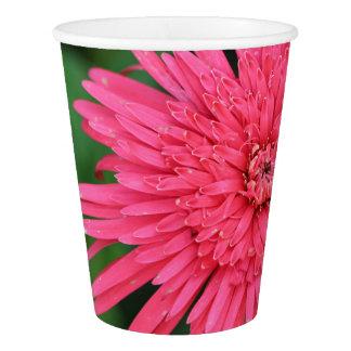 Copo de papel lindo flor cor-de-rosa/coral