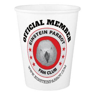 Copo De Papel Logotipo do clube de fãs do papagaio do cinza