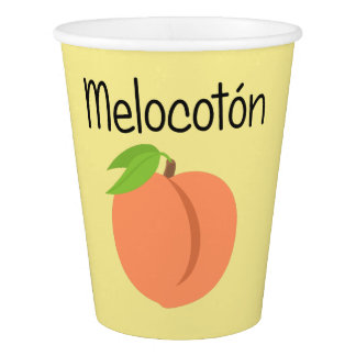 Copo De Papel Melocoton (pêssego)