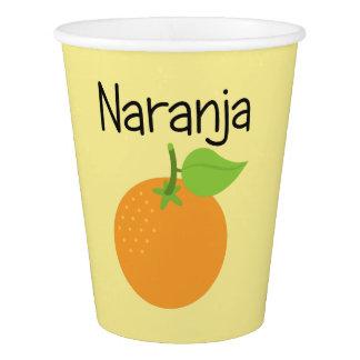 Copo De Papel Naranja (alaranjado)