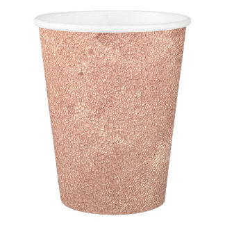 Copo De Papel O cobre cor-de-rosa do ouro da casa de campo cora
