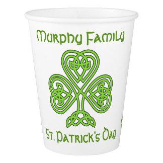 Copo De Papel O dia de St Patrick personalizado