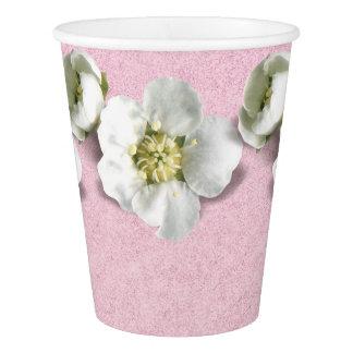 Copo De Papel O ouro do rosa do rosa cora jasmim do branco da