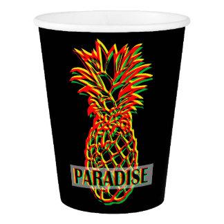 Copo De Papel Paraíso do abacaxi
