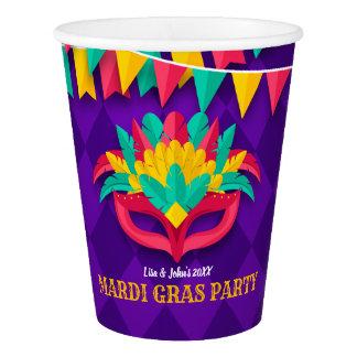 Copo De Papel Partido do mascarada do carnaval