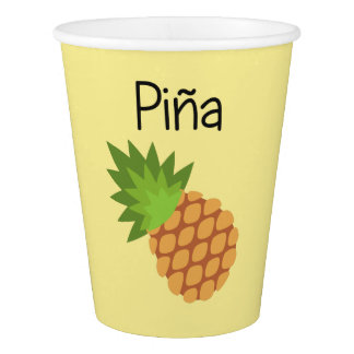 Copo De Papel Pina (abacaxi)