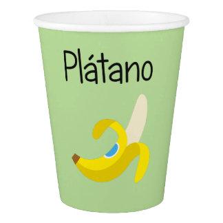 Copo De Papel Platano (banana)