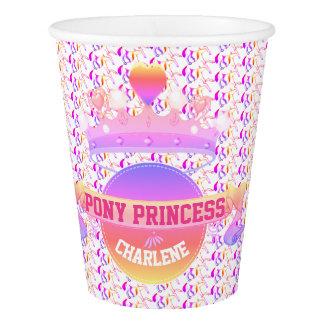 Copo De Papel Princesa cor-de-rosa e roxa do pônei