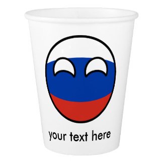 Copo De Papel Rússia Geeky de tensão engraçada Countryball