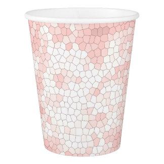 Copo De Papel teste padrão cor-de-rosa feminino sofisticado