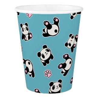 Copo De Papel Teste padrão da panda