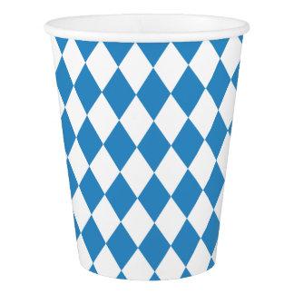 Copo De Papel Teste padrão geométrico bávaro para Oktoberfest.