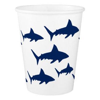 Copo De Papel Tubarões