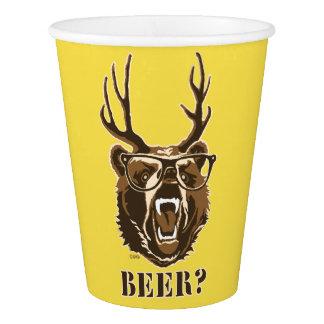 Copo De Papel Urso, cervos ou cerveja