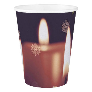 Copo De Papel velas do Natal