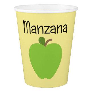 Copo De Papel Verde de Manzana (Apple)