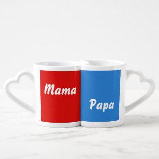 Copo de querido mãe & papai conjunto de caneca de café