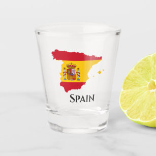 Copo De Shot Mapa espanhol da bandeira da espanha