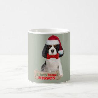 Copo descuidado do rei Charles Beijo Para Natal Caneca De Café