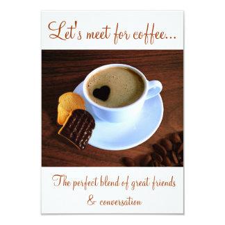 Copo do café do coração - convite do tempo do café