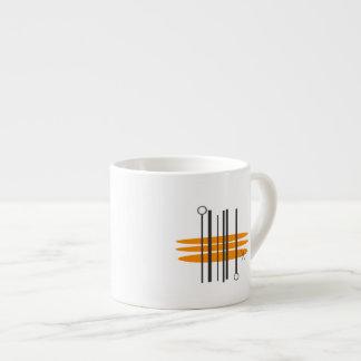 Copo do café - impressão moderno do meio século xícara de espresso