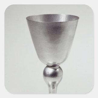 Copo do cálice ou do vinho, sul - americano adesivo em forma quadrada