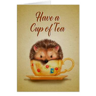 Copo do cartão do chá