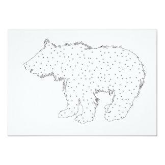 Copo do urso - estilo da neve convite 12.7 x 17.78cm