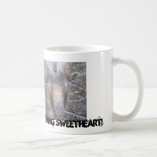 Copo engraçado da cabra caneca de café
