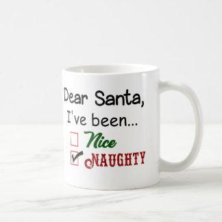 Copo impertinente da caneca do feriado do Natal