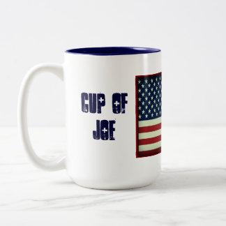 Caneca De Café Em Dois Tons Copo patriótico da caneca da bebida de Joe