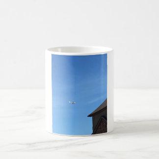 Copo plano caneca de café