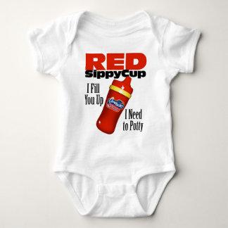 Copo vermelho de Sippy Body Para Bebê