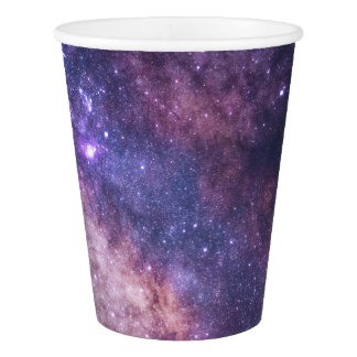 Copos de papel da galáxia