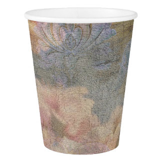 Copos de papel da tapeçaria da flor da amêndoa