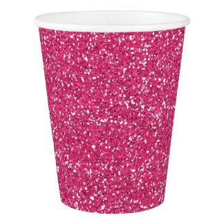 Copos de papel do partido cor-de-rosa da imagem do