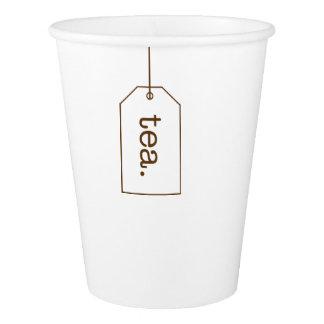 Copos de papel do Tag do saquinho de chá