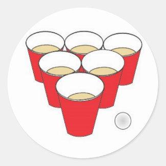 Copos de Pong da cerveja Adesivo