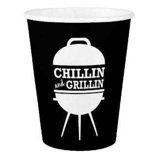 Copos do CHURRASCO de Chillin e de Grillin