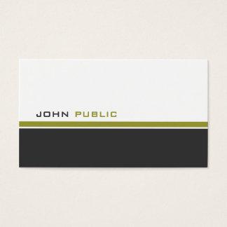 Cor 3 moderna cartão de visitas