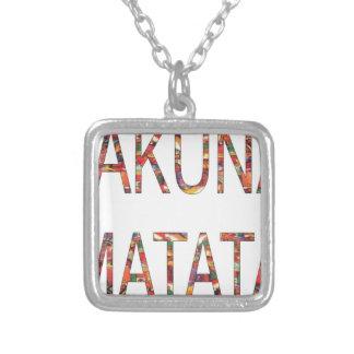 Cor africana do vintage de Hakuna Matata dos menin Bijuteria Personalizada