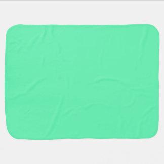 Cor clara do azul esverdeado cobertor para bebe